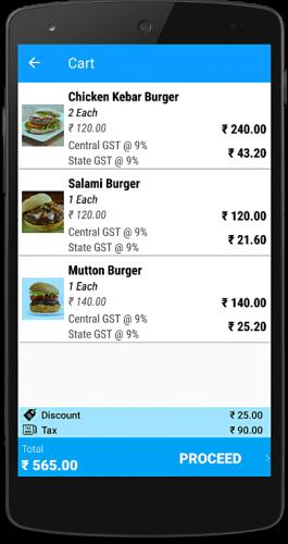 billing app cart