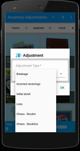 billing app inventory